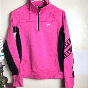 Pink sweater jacket